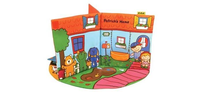 KS Kids 3D-книжка В гостях у Патрика3D-книжка В гостях у Патрика3D-книжка В гостях у Патрика состоит из 3-х комнат (ванная, спальня и дворик) и отдельной игрушки Патрик.  Патрика можно помещать в ванную, гулять с ним во дворе, открывать шкафы и т.д..  Многообразие элементов способствует развитию моторики и воображения. Игрушку можно стирать при температуре 30 C.<br>
