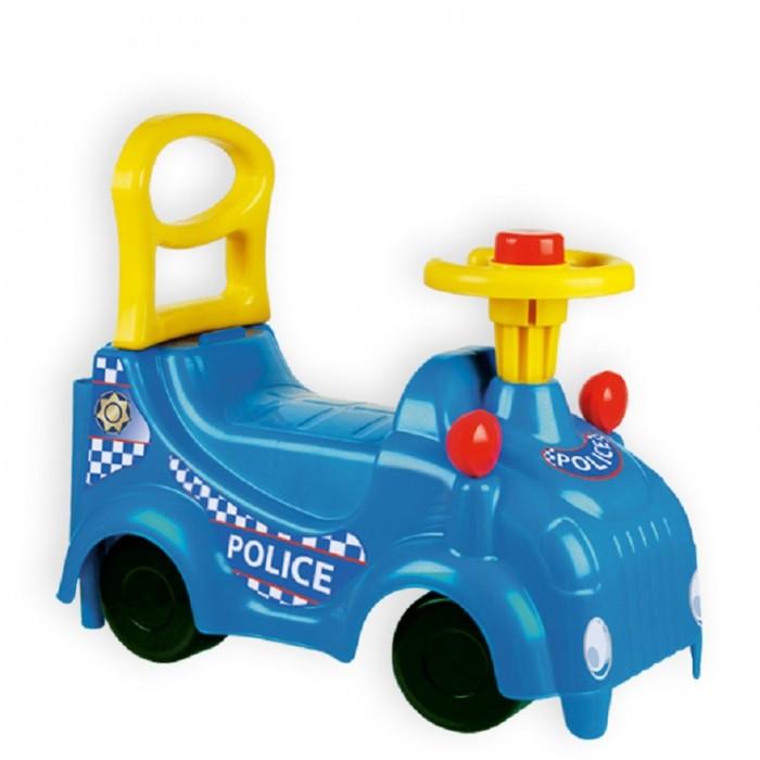 Каталка ZebraToys ПолицияПолицияКаталка ZebraToys Полиция являются первым транспортом для ребенка после коляски. Если Ваш ребенок еще мал, и осваивать велосипед ему ещё рано, то каталка-машина - это как раз то, что Вам нужно.  Ребенок будет прилагать усилия для передвижения, отталкиваться ногами и, тем самым, развивать моторику и внимание, приобретать навыки езды и управления с помощью каталки.  Особенности: для детей 1-5 лет прочный пластик музыкальный руль яркий и стильный дизайн ручка-толкатель для ребенка<br>