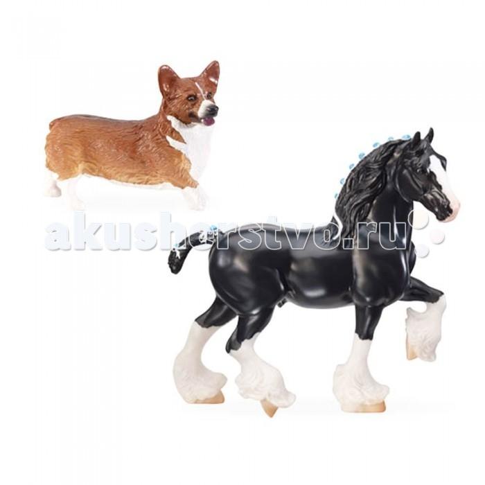 Breyer Жеребец породы шайр и щенок коргиЖеребец породы шайр и щенок коргиВсе лошади серии Traditional точно воспроизводят характерные черты и особенности представляемой ими породы.   На данный момент продукты компании Breyer являются самыми реалистичными копиями лошадей благодаря точности линий, проработке мелких деталей и ручной росписи. Все это позволяет сделать каждую лошадь особенной и абсолютно не похожей на других.  Breyer представляет новую серию Лучшие английские породы, которая познакомит детей с традиционными английскими породами лошадей - ирландской упряжной,чистокровной верховой, различными пони и т.д Шайр - одна из старейших английских пород. Жеребец шайра может весить до тонны! Корги - любимая порода английской королевы Елизаветы ||, также собаки породы корги пользуются популярностью у конников всего мира.  Масштаб 1:9  Лошадь упакована в красивую коробку. Изготовлена из высококачественного материала, абсолютно безопасна в использовании, рекомендована детям от 4-х лет.<br>