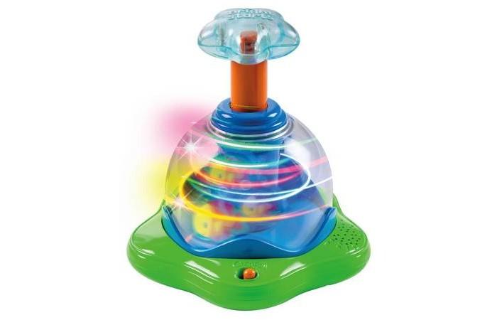 Развивающая игрушка Bright Starts Волшебная вертушка со светомВолшебная вертушка со светомBright Starts Волшебная вертушка со светом  Для того чтобы включить вертушку нужно нажать на кнопочку включения  Затем нажмите на звёздочку, и юла начнёт забавно вращаться, а внутри вертушки засветятся разноцветные огоньки  Игра сопровождается забавными звуками и весёлыми мелодиями  Громкость музыки регулируется   Размеры игрушки: 17.02 x 16.51 x 18.42 Тип батареек: 3 x AA / LR6 1.5V (пальчиковые). (в комплекте) Возраст: от 6 мес<br>