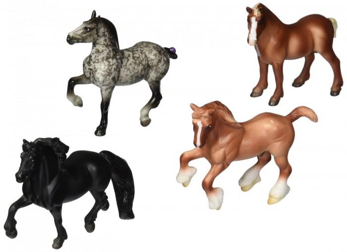 Игровые фигурки Breyer Набор из 4-х лошадей Нежные великаны игрушка для животных каскад барабан с колокольчиком 4 х 4 х 4 см