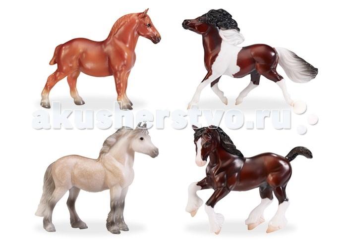Breyer Набор из 4-х лошадей Лучшие Британские породыНабор из 4-х лошадей Лучшие Британские породыBreyer® с гордостью отмечает наследие и красоту самых знаковых местных пород Великобритании. В стране  лугов, болот и гор на протяжении многих веков лучшие  породы Британии - выносливые пони - известны во всем мире за их интеллект.    Самая старая порода -  тяжеловоз невероятно сильный и идеальный выбор для обработки земли или буксировать груз. Любимой породой Шотландии  - Клейдесдаль, самая популярная из тяжеловозных пород.  Все  лошади  линейки Stablemates являются игровыми моделями. Несмотря на свои миниатюрные размеры, похожи на реальных животных. Яркие и красивые, сделают первое знакомство ребенка с миром д лошадей х веселым и запоминающимся.  Фигурка изготовлена из высококачественных материалов, экологична и абсолютно безопасна.       Размер лошади В х Д - 6 х 8 см<br>