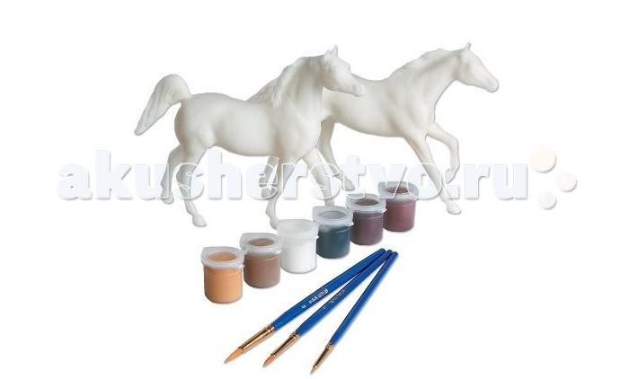 Breyer Набор для творчества Раскрась лошадей по шаблонамНабор для творчества Раскрась лошадей по шаблонамНабор для творчества Раскрась лошадей по шаблонам позволит даже самому маленькому ребенку овладеть азами живописи.       Все необходимые материалы включены: модель лошади - 2 шт, голова и ноги лошади с разделенными областями для красок различного цвета, с указанием номера краски. Краски, кисти, полноцветный буклет инструкция.       Соответствует всем требованиям Американского общества по испытанию материалов - Стандарт D-4236.       Размеры модели лошади Д-15.2 см, В-10.2 см<br>