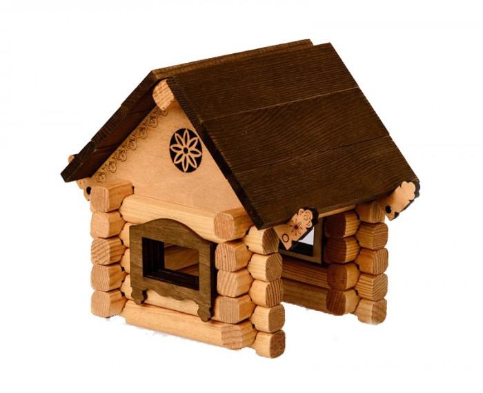 Конструкторы Томик Домик Изба 39 деталей томик деревянный конструктор цветной 26 деталей