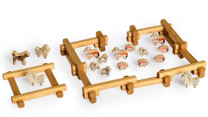 Конструкторы Томик Домик Двор 58 деталей томик деревянный конструктор цветной 26 деталей