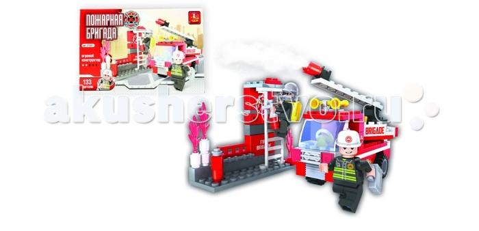 Конструкторы Ausini Пожарная бригада 133 деталей конструкторы fanclastic конструктор fanclastic набор роботоводство