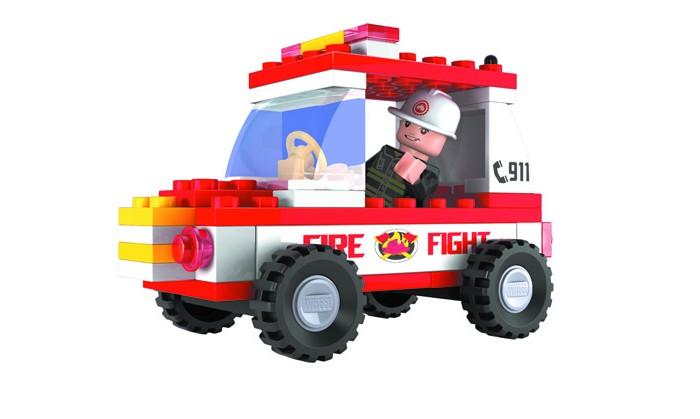 Конструкторы Ausini Пожарная бригада 58 деталей набор для конструирования ausini ферма 177 деталей