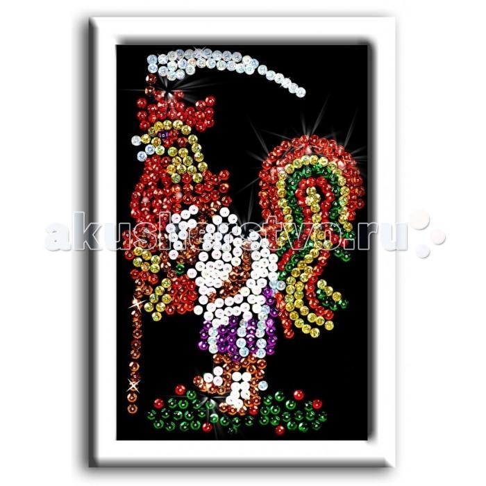 Наборы для творчества Волшебная мастерская Мозаика из пайеток Петушок наборы для творчества волшебная мастерская мозаика из пайеток маки