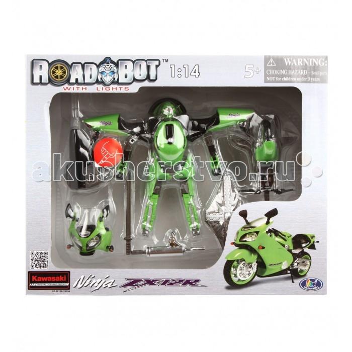 Электронные игрушки Happy Well Робот-трансформер Roadbot Kawasaki Ninja ZX12R 1:14