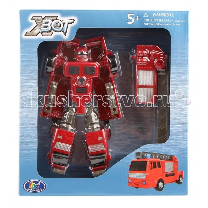 Игровые фигурки Happy Well Трансформер X-Bot Робот-пожарная машина well l96 в москве