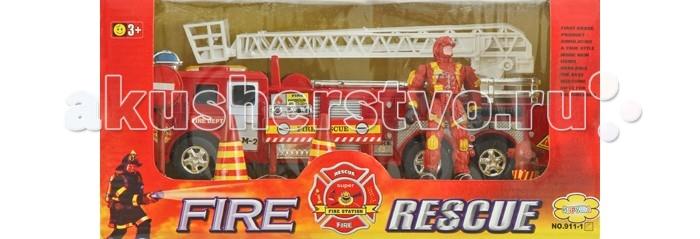 Игровые наборы Игруша Игровой набор Пожарная служба I911-1C игровые наборы tomy игровой набор приключения трактора джонни и лошади на ферме