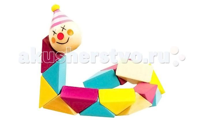 Деревянные игрушки Mapacha Клоун деревянные игрушки mapacha логическая игрушка змейка