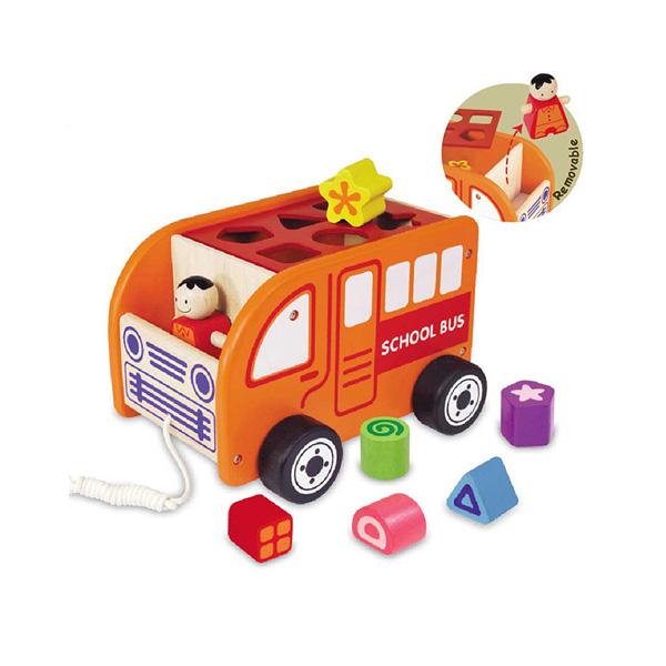 Деревянная игрушка Im toy Сортер Автобус