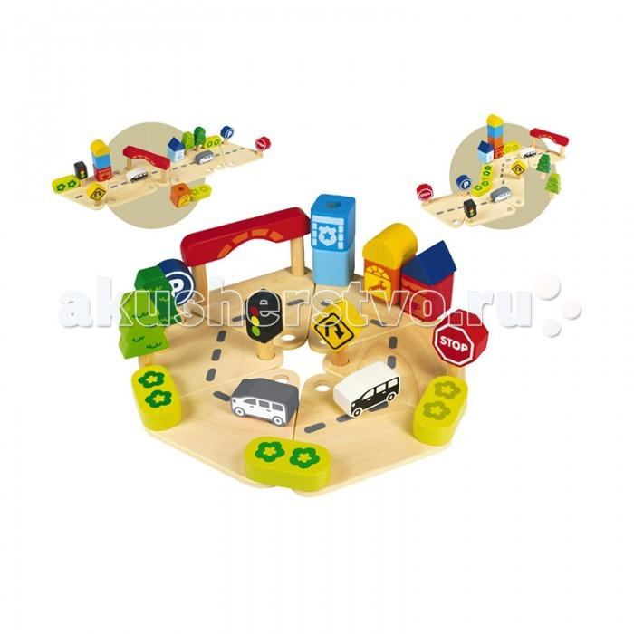 Деревянная игрушка I'm toy Конструктор Дорожное движение