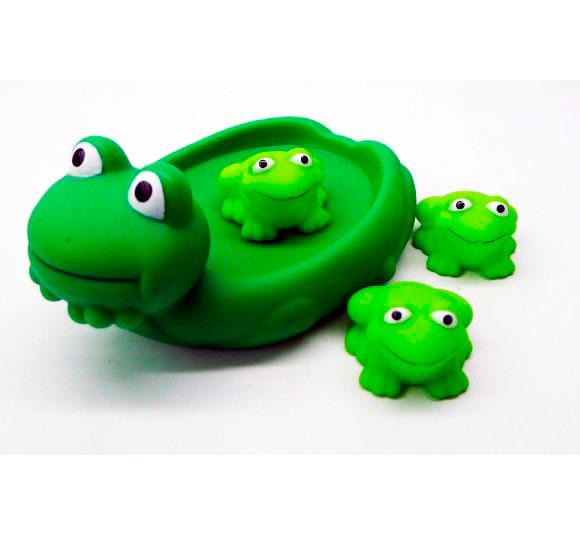 Игрушки для ванны Жирафики Набор для купания Лягушка с лягушатами