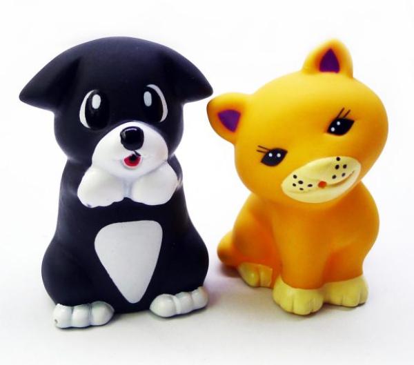 Игрушки для ванны Жирафики Набор для купания Котёнок Мяу и щенок cпальный мешок outwell cube double