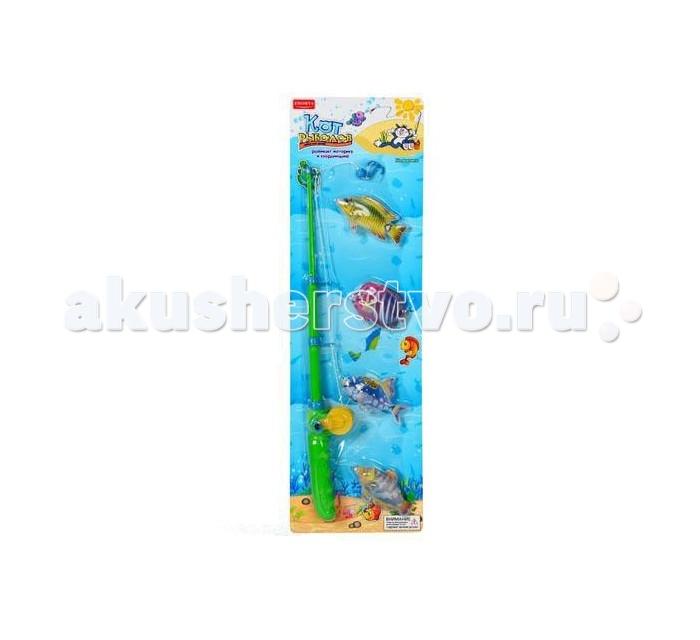 Игровые наборы Zhorya Игровой набор Кот-рыболов 4 рыбки набор bumbaram волшебный шар рыбки mm 4