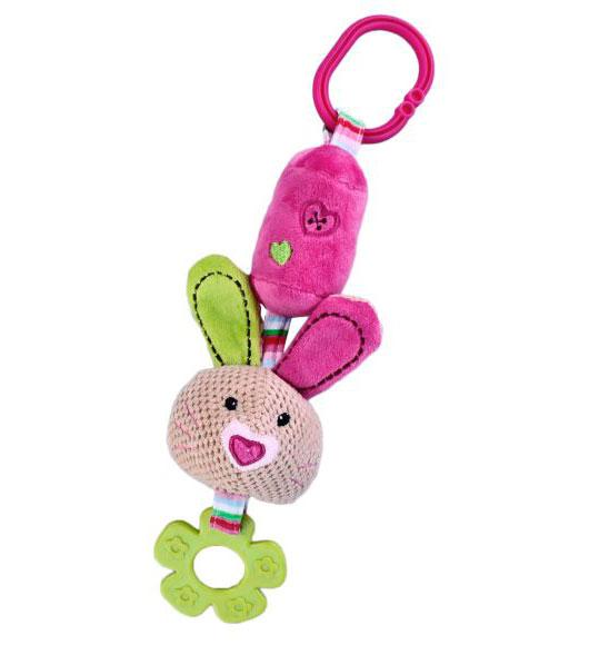Подвесные игрушки Жирафики Кролик с колокольчиком жирафики игрушка подвеска крабик с колокольчиком
