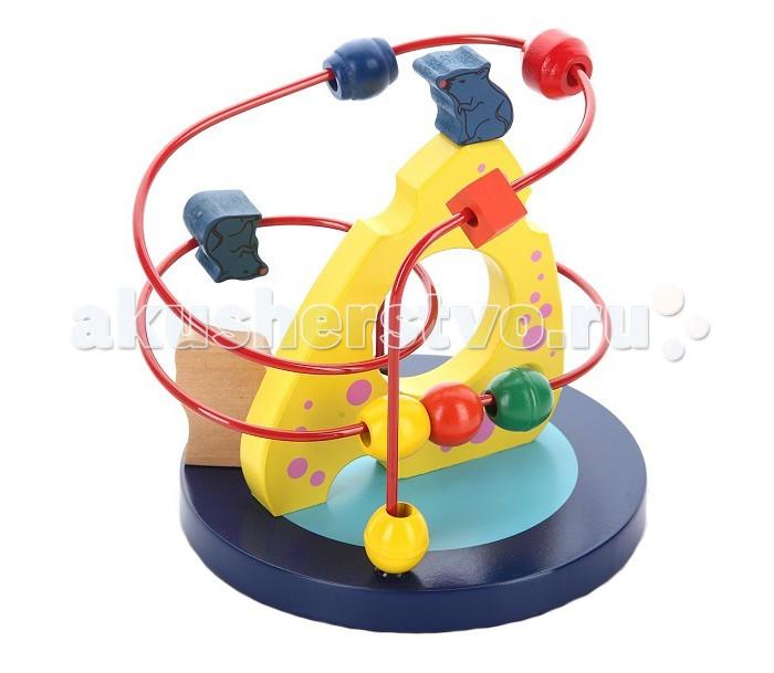 Деревянные игрушки Mapacha Рамка-лабиринт Кошки-мышки игрушка эксмо кошки мышки