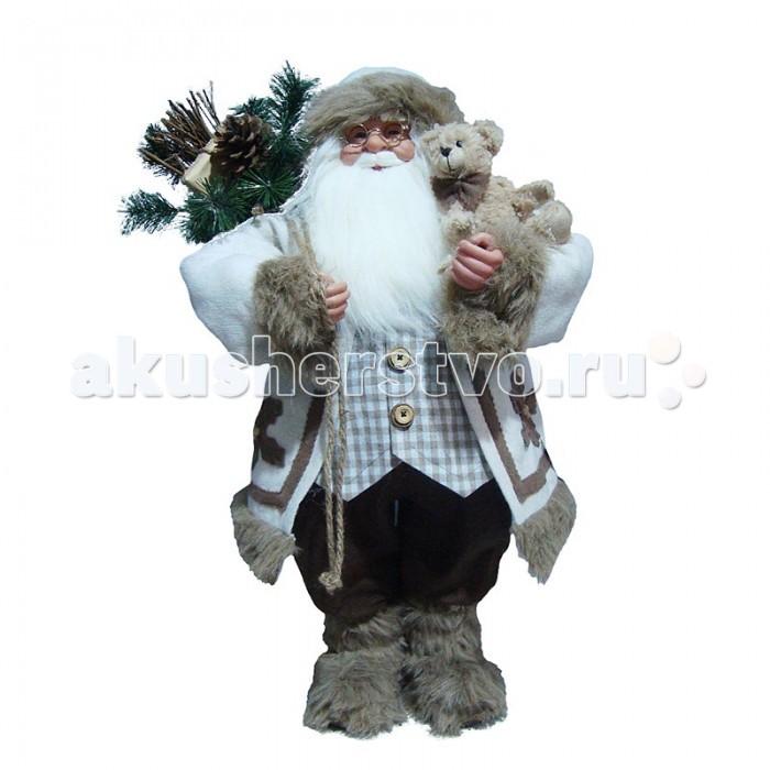 Maxitoys Фигура Дед Мороз в Шубе 80 смФигура Дед Мороз в Шубе 80 смДед Мороз - больша рождественска фигурка, без которой практически невозможно представить себе ни один новогодний праздник.   Конечно же, в мешке тот вестник наступащего года несет подарки (правда декоративные).  Выглдит очень естественно, со множеством мелких деталей. Отлично встанет под новогодн елку.   Высота Фигуры - 80 см<br>
