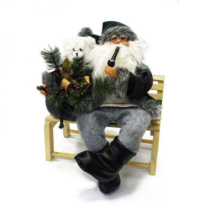 Maxitoys Фигура Дед Мороз на Скамье 45 смФигура Дед Мороз на Скамье 45 смДед Мороз - большая рождественская фигурка, без которой практически невозможно представить себе ни один новогодний праздник.   Конечно же, в мешке этот вестник наступающего года несет подарки (правда декоративные).  Выглядит очень естественно, со множеством мелких деталей. Отлично встанет под новогоднюю елку.   Высота Фигуры - 45 см<br>