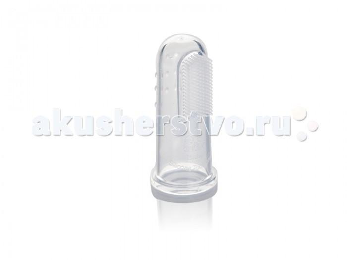 Гигиена полости рта Babyland детская силиконовая щетка на палец