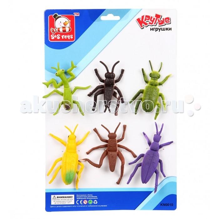 Игровые фигурки S+S Toys Набор Насекомые 6 шт. 6 см