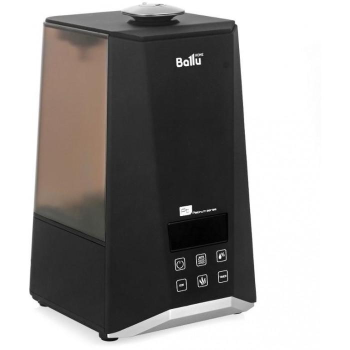 Ballu Увлажнитель воздуха ультразвуковой UHB-1000Увлажнитель воздуха ультразвуковой UHB-1000Ballu Увлажнитель воздуха ультразвуковой UHB-1000 предназначен для поддержания благоприятного уровня влажности воздуха в домах и офисах площадью до 40 м2. Создание оптимального микроклимата в помещениях служит для профилактики вирусных респираторных заболеваний и предупреждения других проблем, связанных с сухим воздухом.  Ballu UHB-1000 имеет удобное электронное управление и информативную индикацию на ЖК-дисплее. C помощью сенсорных клавиш пользователь может выбрать ручной или автоматический режим работы и задать требуемую скорость увлажнения. В режиме AUTO увлажнитель, ориентируясь на температуру в помещении, подберёт комфортный уровень влажности. В ручном режиме можно самостоятельно задать комфортное значение относительной влажности воздуха в диапазоне от 40 до 75%. Для удобства пользователя прибор показывает на экране текущее значение влажности, а также температуры воздуха в помещении. Кроме того, для управления устройством с расстояния предусмотрен пульт, который входит в комплект поставки.  В режиме тёплого пара (пастеризации), также включаемого с помощью клавиши на панели управления, вода в резервуаре нагревается до 80°С, что предотвращает развитие вредных микроорганизмов.Кроме того, пользователь может включить режим ионизации, при котором воздух насыщается отрицательными аэроионами и становится чище.  В резервуар можно заливать водопроводную воду без предварительной очистки или кипячения. Ресурс картриджа составляет около 150 л воды или 45 дней при ежедневном активном использовании.Для удобства и безопасности использования увлажнитель снабжён датчиком контроля воды. При низком уровне воды на дисплее загорится специальный индикатор, а устройство автоматически перейдет в режим ожидания.  Удобной особенностью этой модели является подсветка бака, благодаря которой в ночное время увлажнитель может использоваться как ночник.<br>