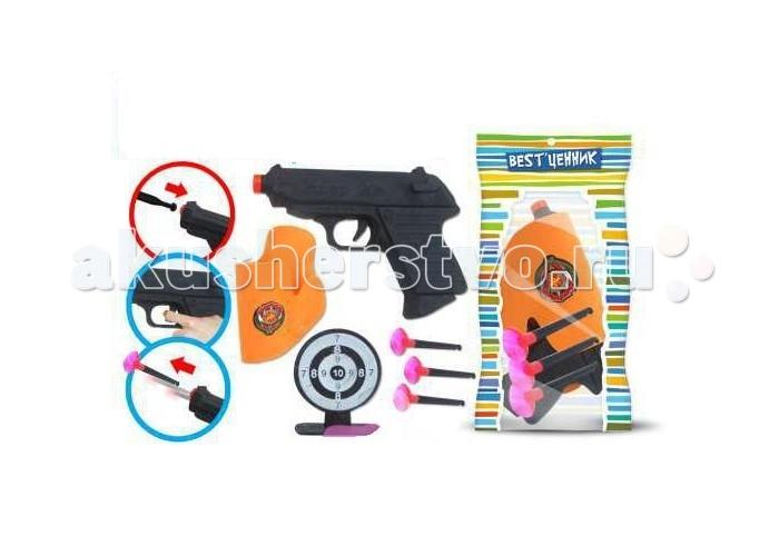 Игрушечное оружие S+S Toys Набор пистолет с присосками, кобура, мишень