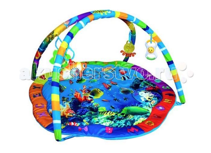 Развивающий коврик Жирафики Подводный мирПодводный мирРазвивающий коврик Жирафики Подводный мир выполнен из безопасных высококачественных материалов. В комплекте с моделью идут 4 яркие игрушки, которые станут лучшими друзьями ребенка.  Особенности: Развивает воображение, цветовое восприятие, мелкую моторику, тактильные ощущения. Инновационные перемещаемые дуги дают малышам много игровых возможностей. Развивающий коврик станет замечательной первой игрушкой для вашего малыша.  Размеры: 58х6х63 см<br>
