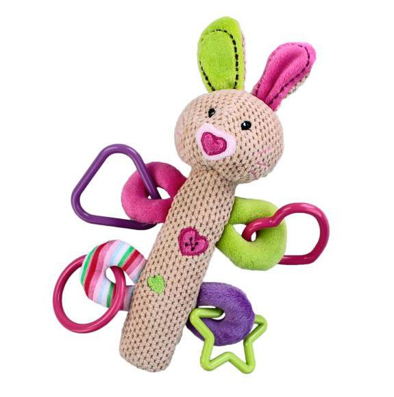 Развивающие игрушки Жирафики Кролик с пищалкой жирафики развивающая игрушка пищалка динозаврик 93920