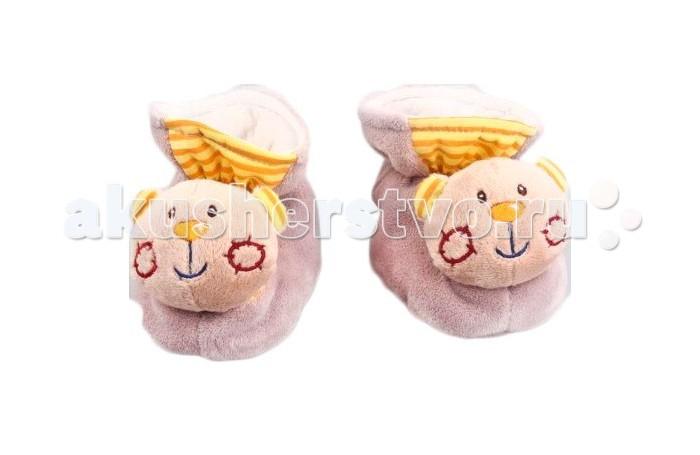 Обувь и пинетки Жирафики Тапочки Мишки 93658 жирафики игрушка погремушка тапочки мишки цвет серо коричневый
