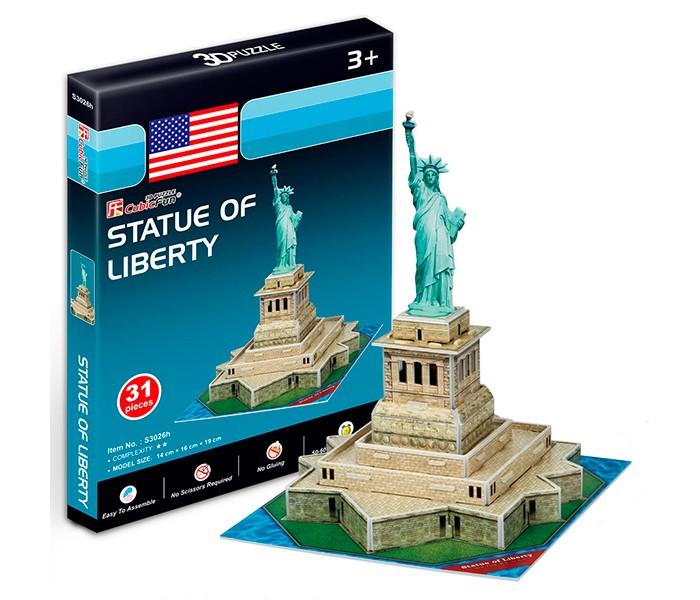 Конструкторы CubicFun 3D пазл Статуя Свободы (США) мини серия конструкторы cubicfun 3d пазл эйфелева башня франция