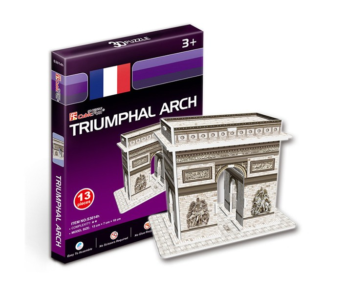 Конструкторы CubicFun 3D пазл Триумфальная арка (Франция) мини серия cubicfun 3d пазл эйфелева башня 2 франция cubicfun 33 детали