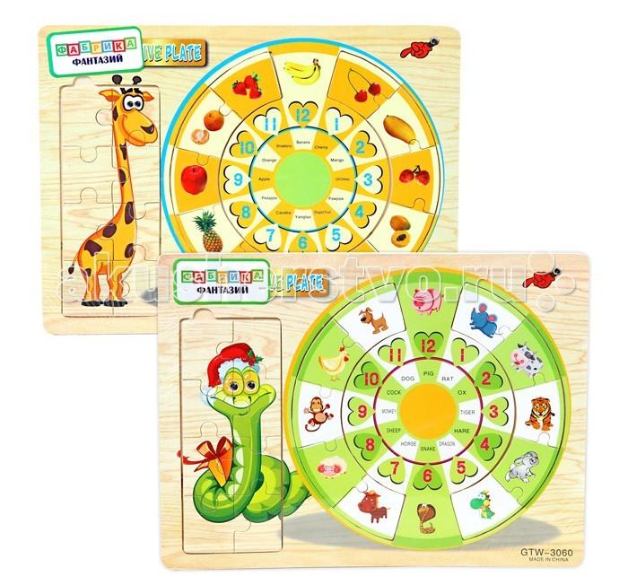 Деревянные игрушки Фабрика фантазий Пазл 49247 логические игрушки