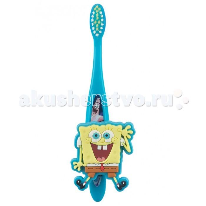 Гигиена полости рта Dr.Fresh Зубная щетка Sponge Bob с настенным держателем на присоске