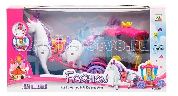 Куклы и одежда для кукол Veld CO Набор Кукла и лошадь с каретой куклы veld co карета кукла с лошадью