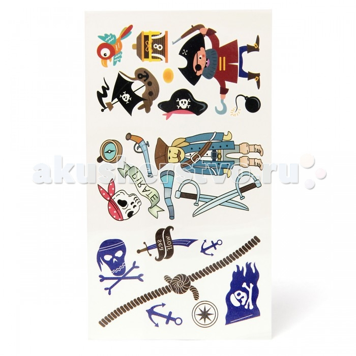 Аксессуары Veld CO Набор переводных татуировок Пираты veld co машина