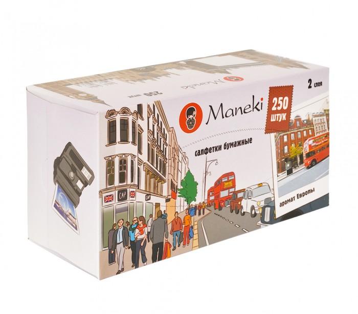 Салфетки Maneki Салфетки бумажные Dream с ароматом Европы 2 слоя 250 шт. maneki салфетки бумажные dream двухслойные цвет голубой 200 шт