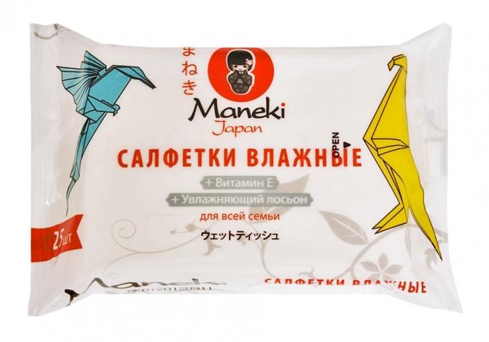 Салфетки Maneki Влажные салфетки Kaiteki для всей семьи с увлажняющим лосьоном 25 шт. сборник чайнвордов для всей семьи