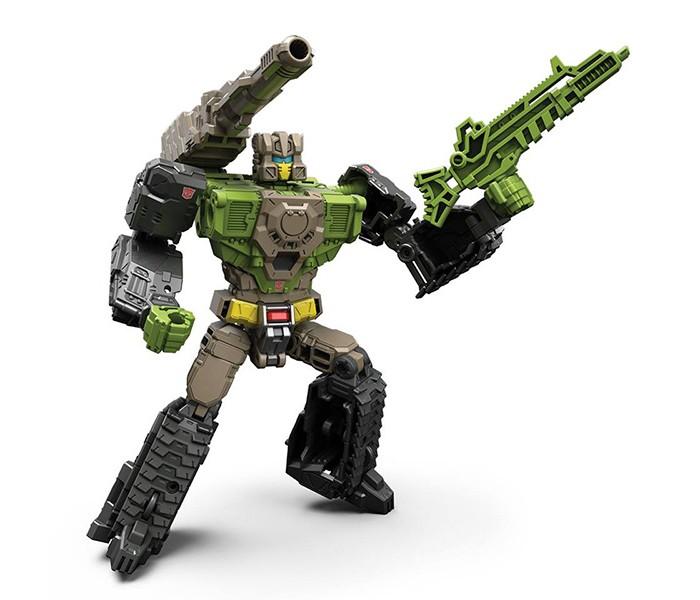 Transformers Трансформеры Дженерэйшенс: Войны Титанов ДэлюксТрансформеры Дженерэйшенс: Войны Титанов ДэлюксИзвечная битва Автоботов и Десептиконов набирает новые обороты. Обнаружены огромные механизмы, обладающие поистине безграничной мощью — Титаны. Их размеры действительно впечатляют — некоторые из них сравнимы со средним городом. Только вам решать, кто же из соперников первым сможет подчинить себе древние технологии.  В ассортименте представлено 4 героя серии рансформеры Дженерэйшенс: Войны Титанов Дэлюкс: Инфинитус и Сентинел Прайм (Infinitus and Sentinel Prime) — примкнул к автоботам. Отличается яркими красно-оранжевыми цветами корпуса. Может принимать 3 различные формы: робота, космического корабля и бронепоезда. В набор входит титан Инфинитус и фигурка автобота Сентинел Прайма. Гракс и Крушитель Черепов (Grax and Skullsmasher) — титан на службе десептиконов. Трансформируется из крокодила в робота. Фьюрос и Хардхэд (Furos and Hardhead) — титан автоботов, может принимать 2 формы: робота и танка. Фракас и Скордж (Fracas and Scourge) — присоединившийся к десептиконам титан. 2 формы трансформации: космический челнок и робот.  Голова робота раскладывается, превращаясь в мини-фигурку героя, управляющего транспортным средством. Таким образом, робот преобразуется в фигурку и транспортное средство.<br>
