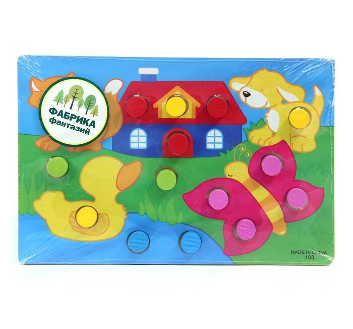 Деревянные игрушки Фабрика фантазий Рамка-вкладыш 49237 деревянные игрушки фабрика фантазий сортер бабочка