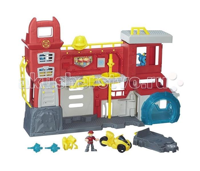 Игровые наборы Playskool Hasbro Heroes Трансформеры Спасатели: Штаб спасателей playskool игровой набор трансформеры штаб спасателей