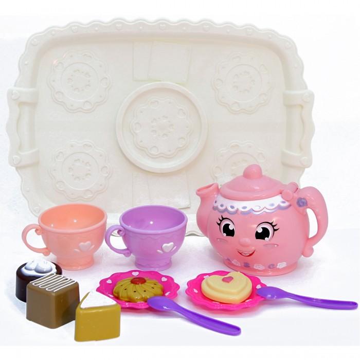 Игровые наборы Veld CO Набор посуды на подносе набор бокалов на подносе marquis фамильные драгоценности маргарита 7 предметов