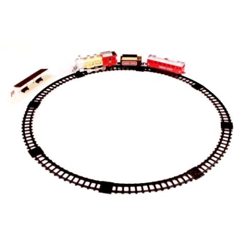 Железные дороги Голубая стрела Железная дорога Локомотив с двумя вагончиками  282 см 94379