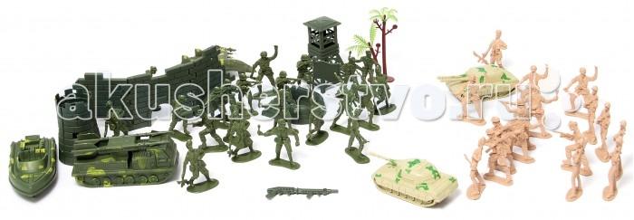 Игровые фигурки Veld CO Набор солдатиков в рюкзаке 41654 набор инструментов в рюкзаке