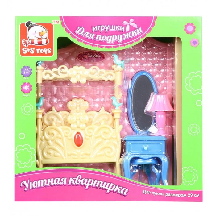 Кукольные домики и мебель S+S Toys Мебель для куклы в наборе на батарейках Спальная комната мебель для кухни