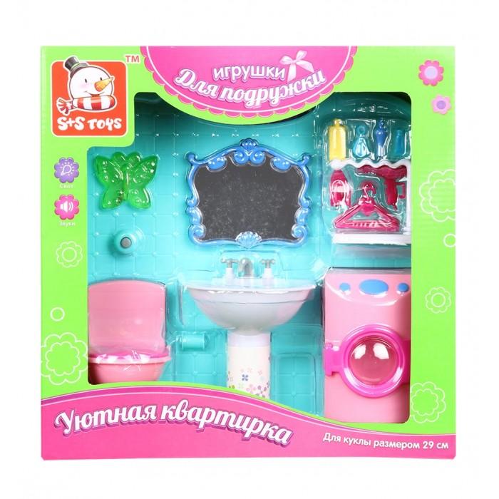 S+S Toys Мебель для куклы в наборе на батарейках Ванная