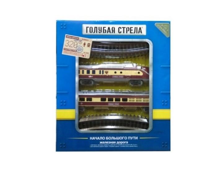 Железные дороги Голубая стрела Железная дорога Тепловоз с вагончиком 320 см 87139 железные дороги keenway набор железная дорога
