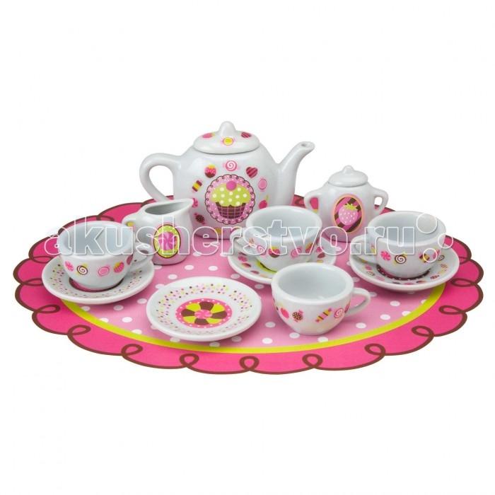 Наборы для творчества Alex Сервиз фарфоровый Веселое чаепитие со стикерами 13 предметов alex чайный сервиз бабочки в саду
